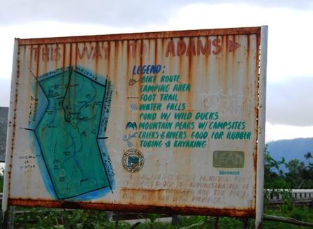 Adams's eco-tour map. Pansian, Pagudpud-Adams junction