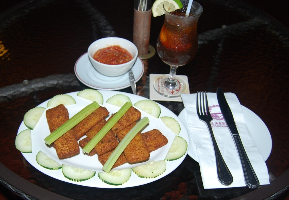 One Hundred Meter Dash fried mozarella cheese sticks, salsa and the Fort Icolandia Iced Tea