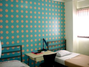 Polka dotted room