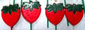 strawberry lollipops