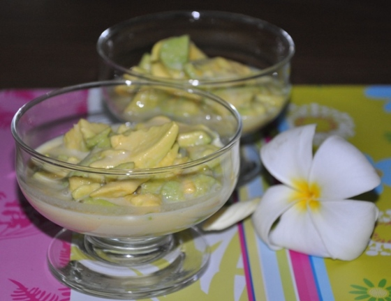 Blauearth's Kitchen Chilled Avocado Dessert