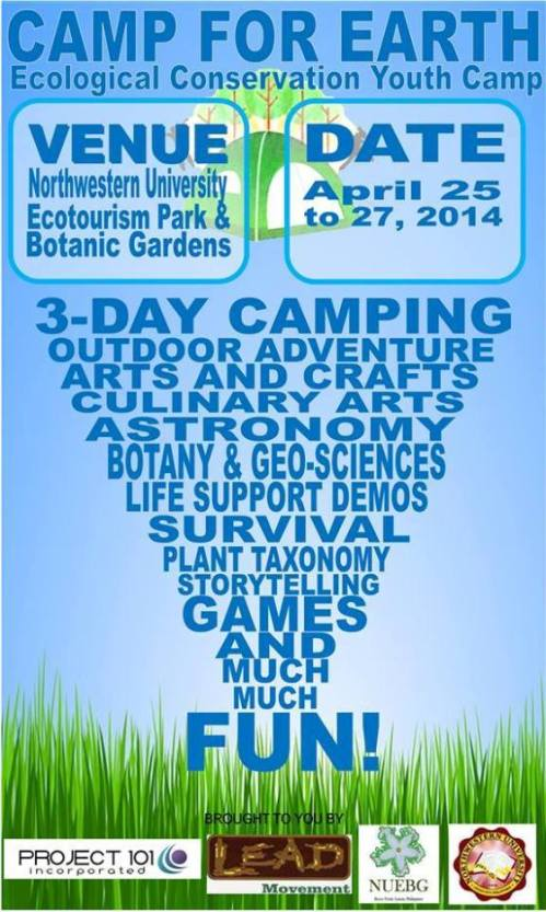 Camp for Earth kids summer event banner